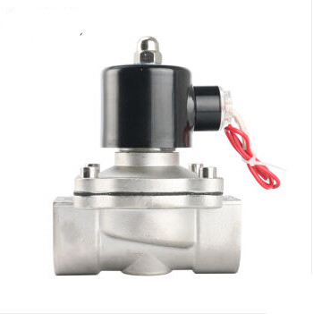 2W160-15B 1/2'' DC 24V stainless steel 304 Electric solenoid valve,DN15 ss304 magnetic valve for air water oil 1/2 inch tf20 s2 c high quality electric shut off valve dc12v 2 wire 3 4 full bore stainless steel 304 electric water valve metal gear