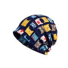 NUZADA New Unisex Men Women Skullies Beanies Cap Knit Knitted Cotton Bonnet Double Layer Fabric Warm Caps Cartoon animation Hats цена в Москве и Питере