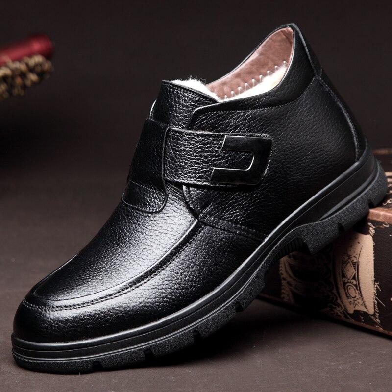 Inverno ever Combate Sapatos Trabalho Moda Pele Borracha Homens Botas Preto Yd Com De marrom Neve Masculina Tornozelo Quente Preto wqvHdWZIa