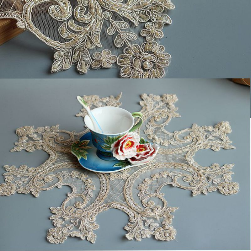Beaded Lace Tablecloth