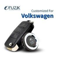 Fuzik Keyless Go Smart Key Keyless Entry Remote start Push Botton for vw Volkswagen jetta passta golf6 golf7 tiguan magotan cc