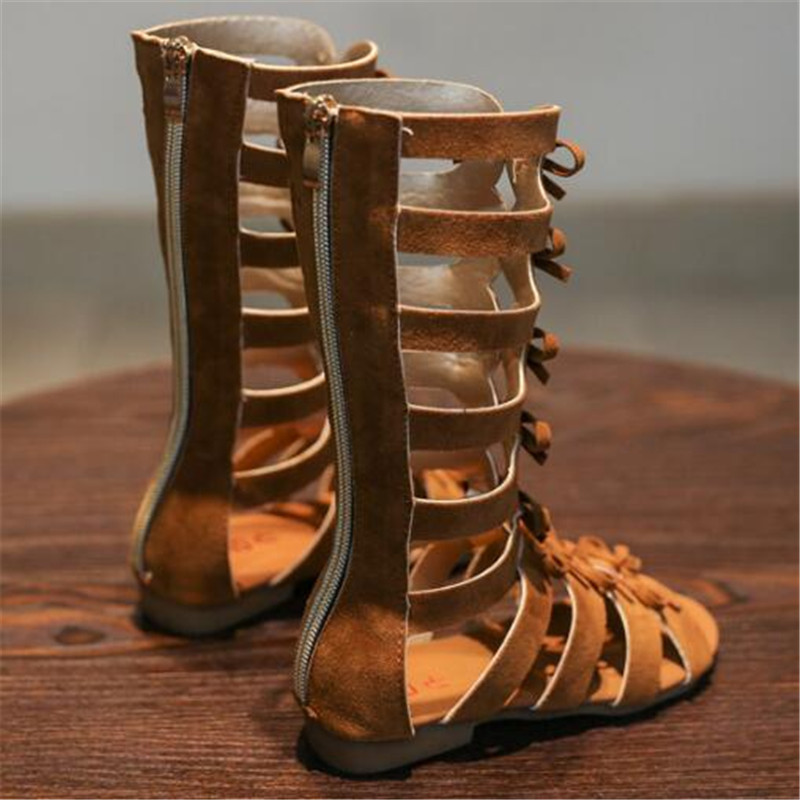 New Summer Gladiator Shoes Baby Children Sandals Girls Open Toe Princess Beach Shoes Kids Gaotong Sandals 019