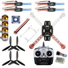 F330 multicopter quadro airframe chama roda kit rtf montado com 8ch transmissor receptor sem adaptador de bateria