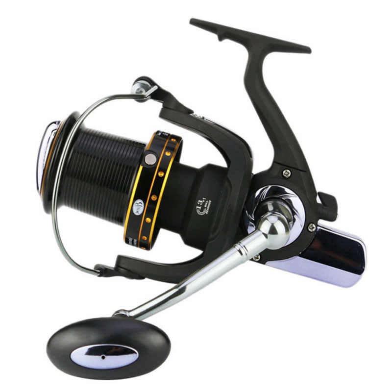 14BB Super Big Long Shot Vissen Reel 11000 Serie Cnc Handvat Metal Spool Zee Surf Cast Spinning Reels Saltwater Verre wielen