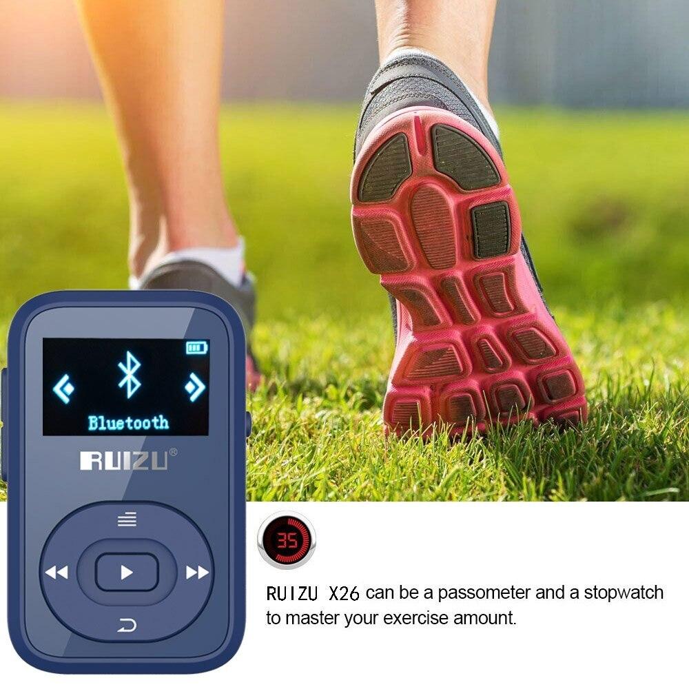NüTzlich FüR äTherisches Medulla Ruizu X26 8 Gb Clip Sport Bluetooth Mp3 Musik-player Mit Fm Radio Rekord Verlustfreie Sound Tragbare Walkman unterstützt Bis Zu 64 Gb