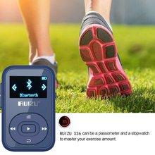 RUIZU X26 8 GB Sport Clip Bluetooth MP3 Reproductor de Música con FM Radio Record Sin Pérdida de Sonido Portátil Walkman (soporta hasta 64 GB)