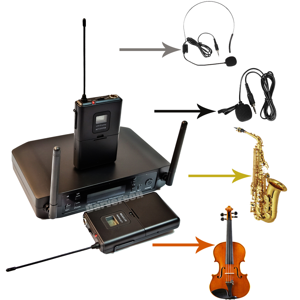 Saxophone Trumpet Violin Guitar Instrument Microphone Wireless System GLXD14 GLXD24 Beta58a Instrument Mic Dual Transmitter