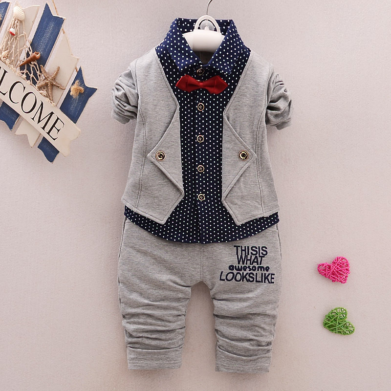 Todder Baby Boy Kid Infant 2PCS Gentleman Shirts Tops+Pants Outfit Clothes Set