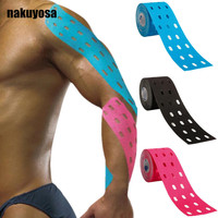 5cm X5m Multicolored Stickers Punch Muscle Patch Kinesiology Tape Sports Therapy Tape Kinesio Hole Tape 2rolls