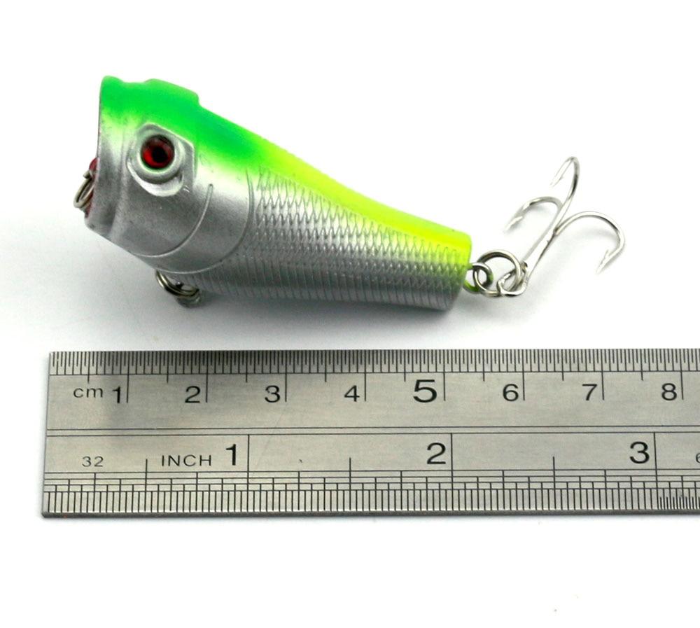 4Pcs Popper žvejybos įrankis 5cm 8g Lifelike Hard Lure - Žvejyba - Nuotrauka 5