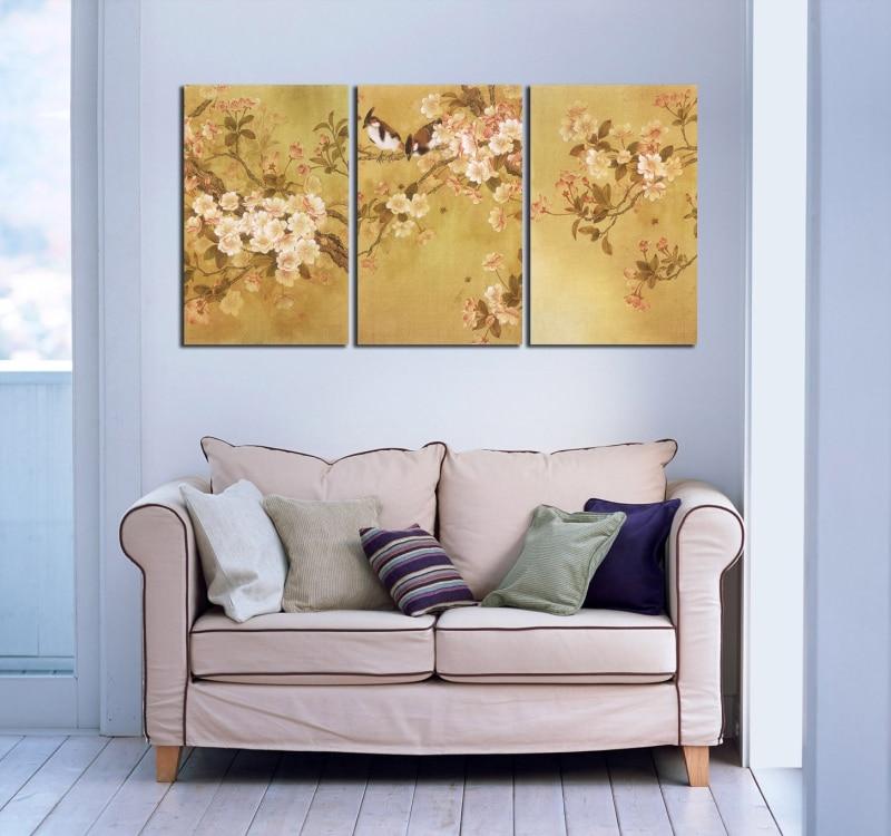 paneles de la pintura tradicional china pjaros cantando en la flor de la vendimia impresin