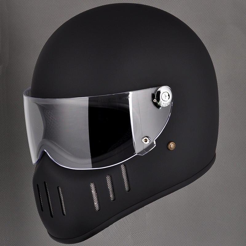 TT & CO pour Thompson moto casques intégraux TT02-F vintage rétro fiber moto casque tokyo style harley moto casque