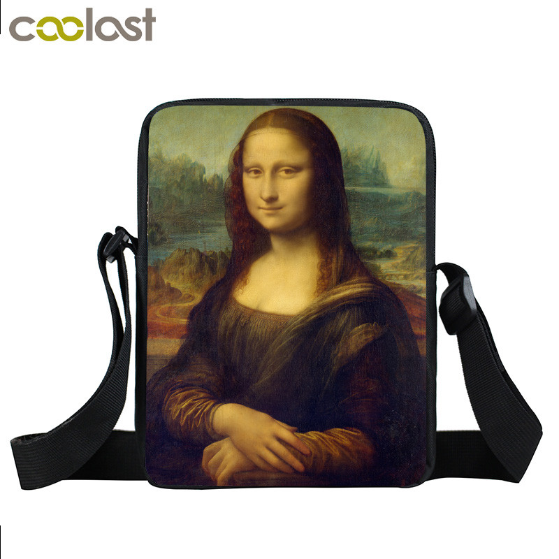 Mona Lisa/Pablo Picass/Van gogh Mini Messenger Bag For Teenage Girls Crossboy Bag Handbag For Women History Of Art Small Tote lisa corti сандалии