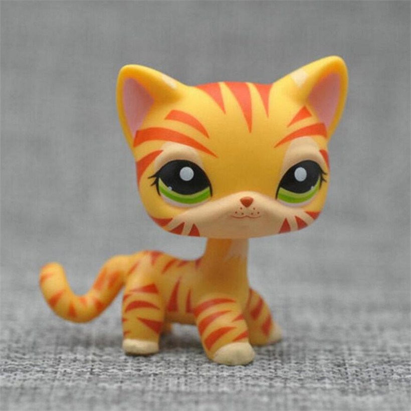 Lps Anime Figure Pet Shop Cute Pvc Animal Cat Kitty Dog Model Action