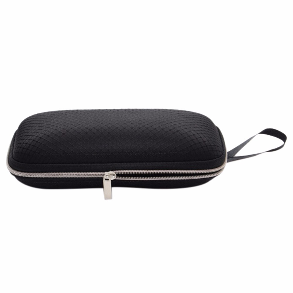 1 Pc Rectangle Grid Zipper Eye Glasses Case Hard Eyewear Box Sunglasses Case Colorful Eyewear Accessories