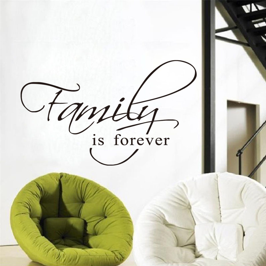 Dctop Family Is Forever Wall Art Decal Quote Words