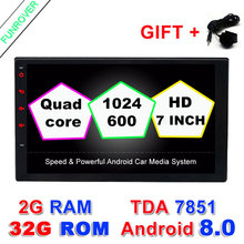 Quad Core 2G RAM+32ROM 2 din android 6.0 New universal Radio Double Car DVD Player GPS Navigation In dash PC Stereo video