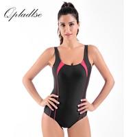 Qpladlse Sport Swimwear Women 2017 Newest Hot Selling One Piece Swimsuit Professional Sexy Sport Triangular Bathing