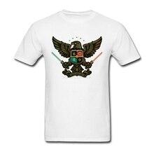 Geek For Life Eagle Men's T-shirts Custom Short Sleeve New Popular Party Big Size Cotton Star Trek Men Shirt