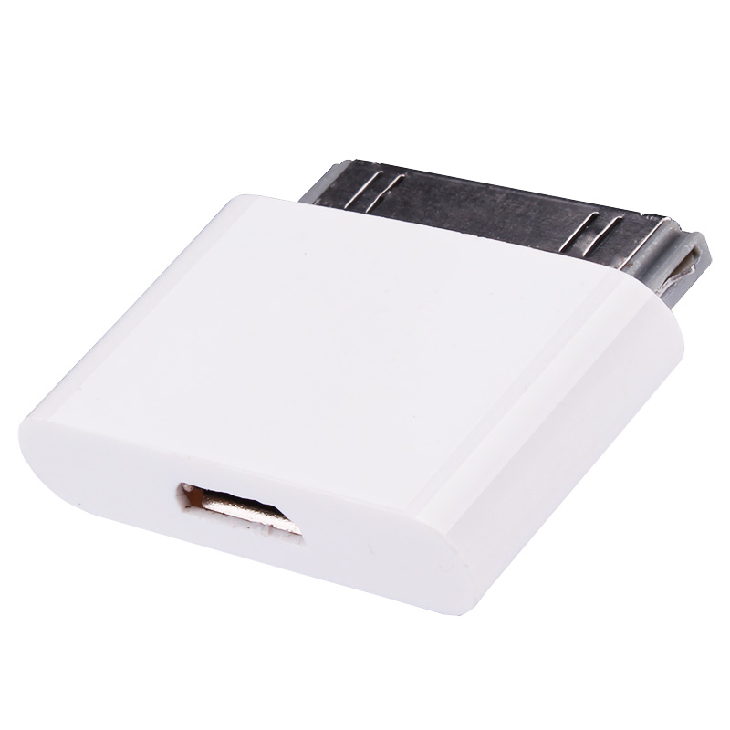 micro usb female to 30 pin male adapter for iphone 4 4s. Black Bedroom Furniture Sets. Home Design Ideas