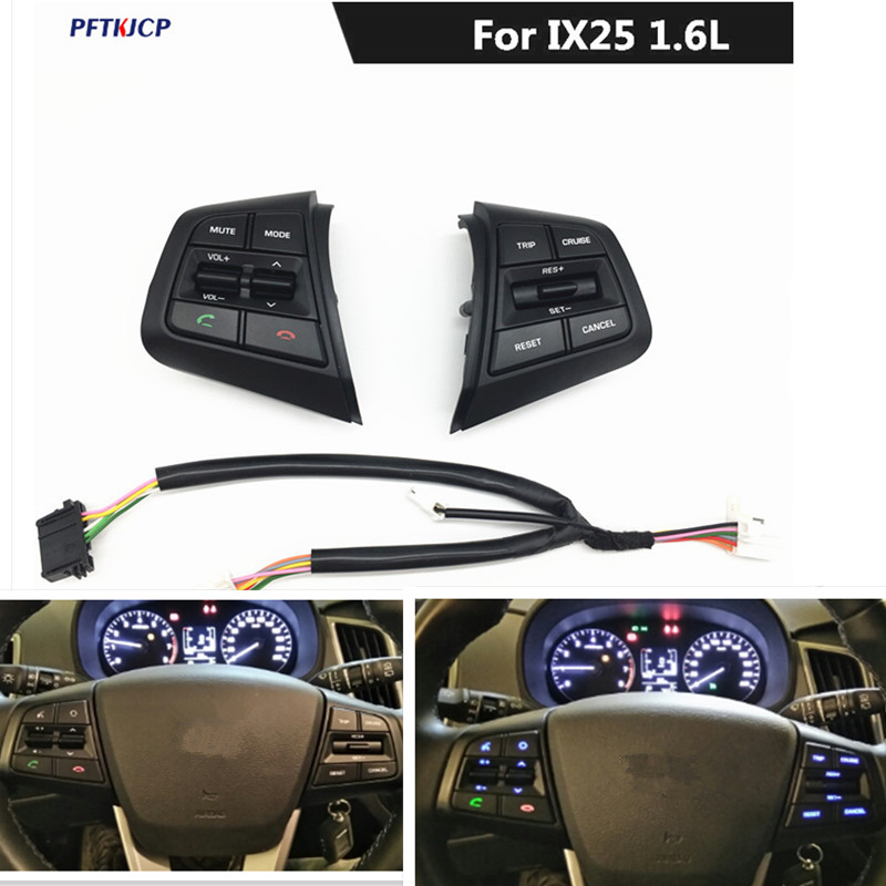 цена free shipping For Hyundai ix25 (creta) 1.6L Steering Wheel Cruise Control Buttons Remote Control Volume Button
