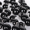 100pcs Black Buttons Plastic For Scrapbooking Half-Pearl Shank Buttons Animal Eyes For Toys DIY Hand Clothing Sewing Accessories