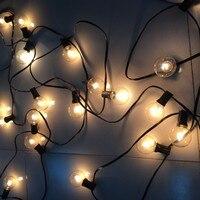 2016 Christmas Season G40 Globe Light String Outdoor Waterproof String Light 15M 50Bulbs Garland For Patio