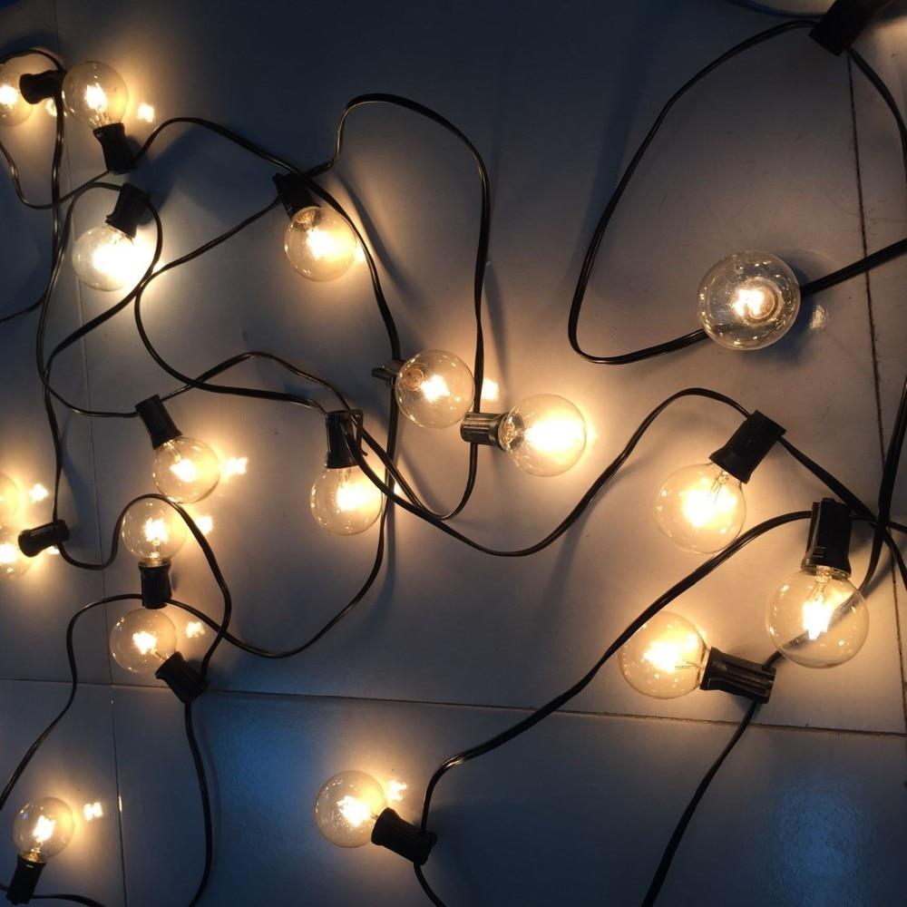 ФОТО 2016 Christmas Season G40 Globe Light String, Outdoor Waterproof String Light, 15M 50Bulbs Garland for Patio/Backyard/Wedding