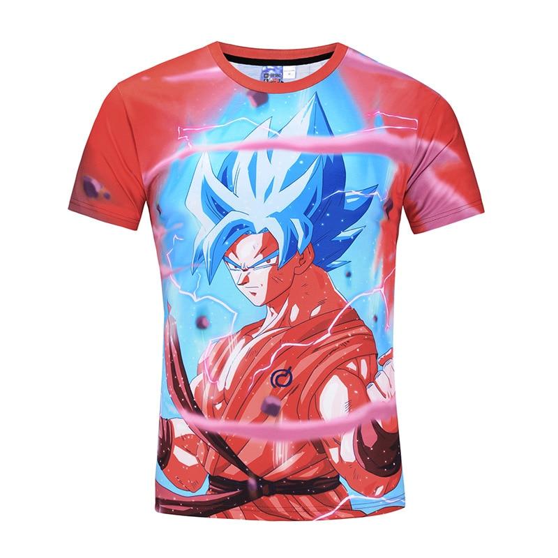 Dragon Ball Z T-shirts Mens Summer T Shirt 3D Print Super Saiyan Son Goku God Shenron Crystal Ball Star Dragonball Tops Tee