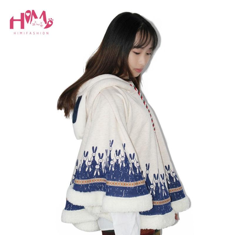 Frauen Japanischen Stil Mori Mädchen Herbst Wintermantel Niedlichen - Damenbekleidung - Foto 4