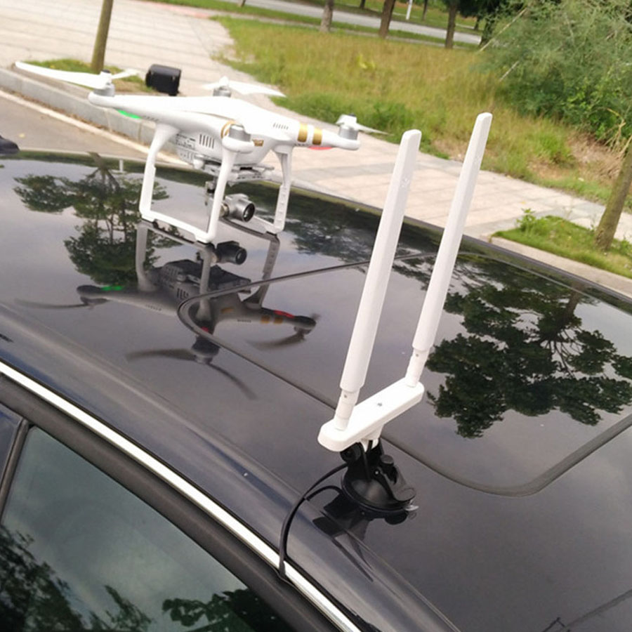 цена на WiFi Antenna Combo Range Extender Kit with Car Sucker for DJI Phantom 3 Advanced & Professional & DJI Phantom 4 & Inspire 1