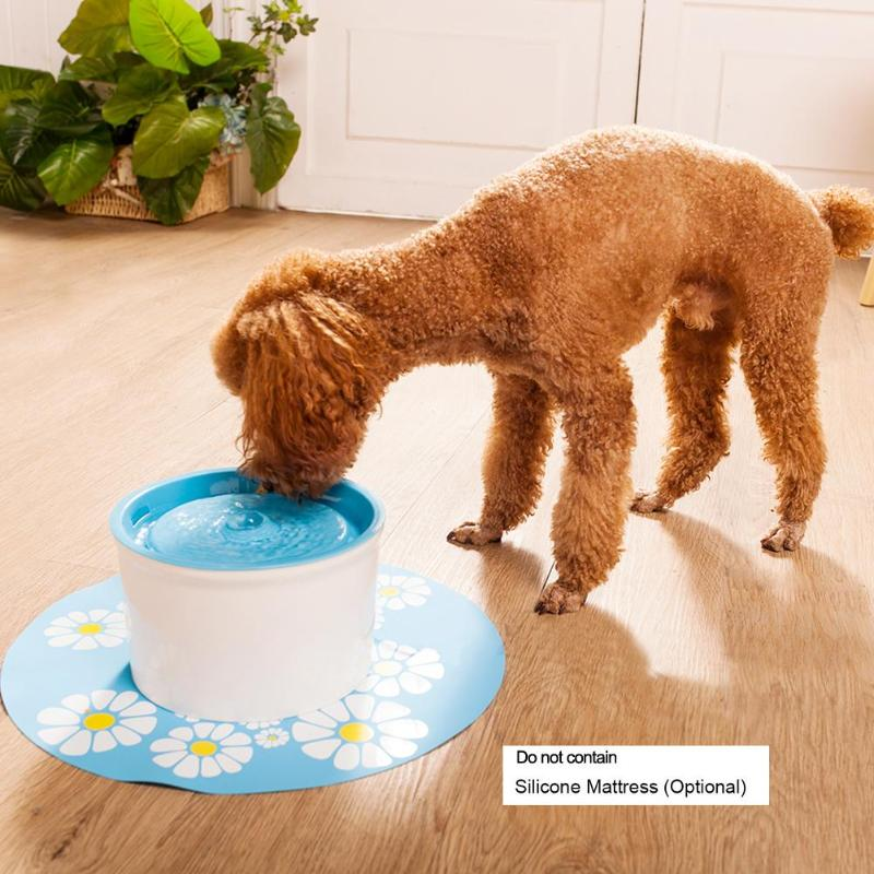 Automatic Cat Water Fountain 1.6l Electric Water Fountain Dog Cat Pet Drinker Bowl Pet Drinking Fountain Blue Green Orange Blue #2