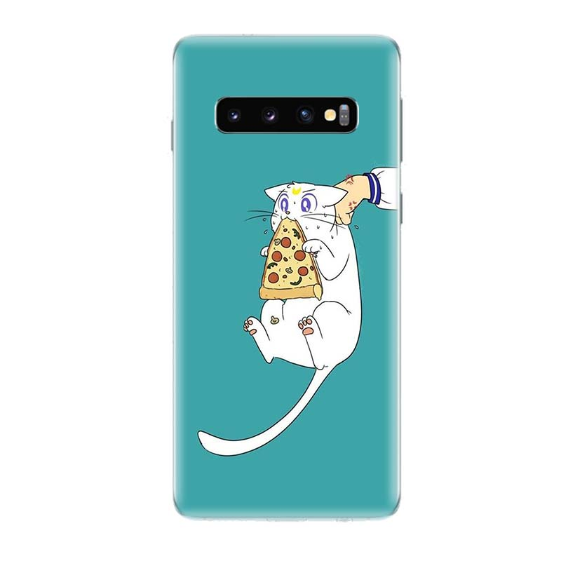 Sailor Moon Girl Fit Fashion Silicome Phone Case for Samsung Galaxy S10E S10 S9 S8 Plus Note 9 8 S7 S6 Edge Customized Art Cover in Half wrapped Cases from Cellphones Telecommunications