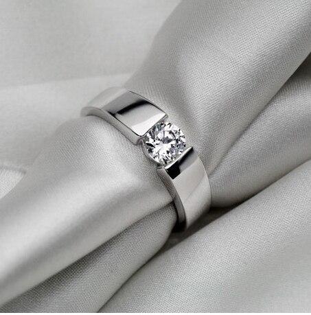 Anniversary Gift for Husband Vfpn Solid 18K 750 White Gold Men