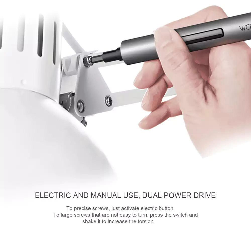 Wowstick 1F Plus Electric Screwdriver Body Witout Accessories Rechargeable Battery And With 3 LED Light