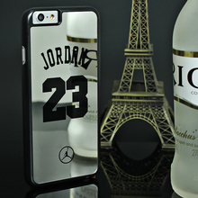 NBA Brand Michael Jordan 23 Cases For iPhone 6 6 Puls 5 5s SE PC Hard Mirror Phone Cases Cover For iPhone Cover Fundas