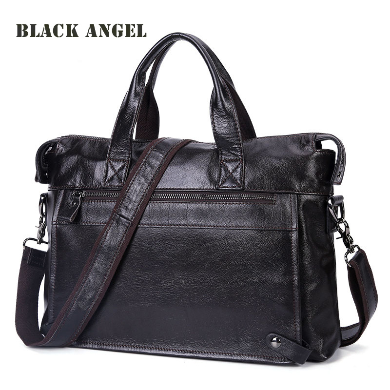 Cowhide Genuine Leather Men messenger bags business Laptop briefcase Bag fashion Men handbag Shoulder Men Travel Bags vintage fashion men big travel bags made by genuine leather men sports hiking messenger bags cowhide shoulder bags for men 2016