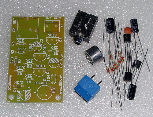 Electret Microphone Amplifier Multistage Amplifier Module Headphone out DIY Kits