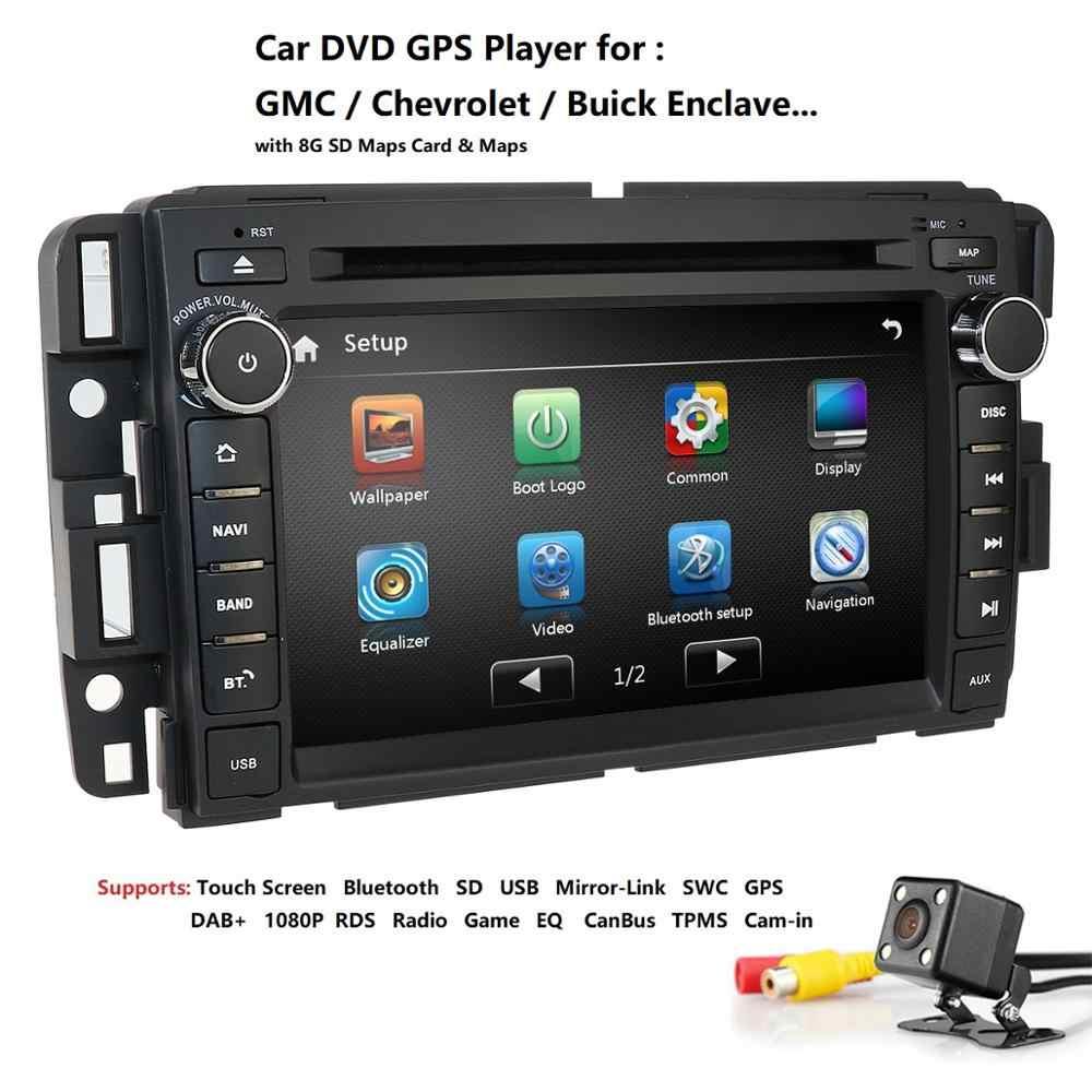 2Din Gmc シエラシボレーシルバラード 2500HD 3500 Hd のカーラジオ DVD プレーヤーの Gps ステレオカーマルチメディアプレーヤー DAB + SWC RDS 地図カム