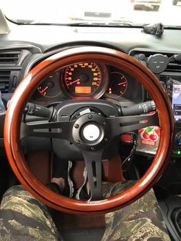 Universelle hohe qualität 350mm/14 zoll/35 cm Holz Phoebe Aluminium oxidationracing auto lenkrad mit horn