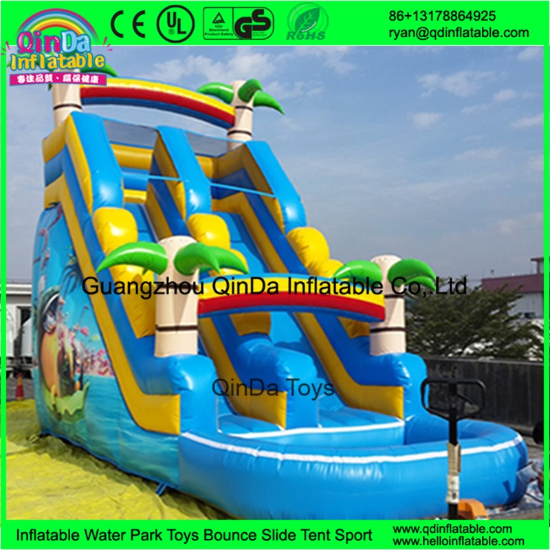 1 inflatable water slides with pool for kids59