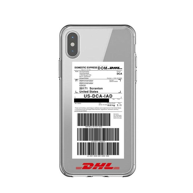 kasus telepon silikon yang lembut transparan kuning mewah logo dhl cover case untuk i phone 7 plus x max 6 6s plus 5 s 7 8 se x xr balik kasus aliexpress logo dhl cover case