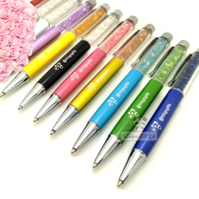 1000 pieces/lot 10 colors Hot-selling with Noble Crystal Pen Ballpoint Roller Ball Luxury Rollerball For Gift free shipping