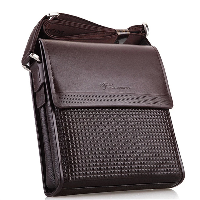 New 2016 Kangaroo Men Bag Genuine Leather Famous Brand Shoulder Bag Men's Messenger crossbody Bags Designer Business Briefcase