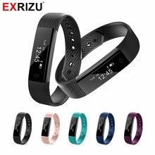Exrizu ID115 смарт-фитнес-браслет шагов ккал Шагомер фитнес SmartBand часы вибрации браслет для iPhone Android