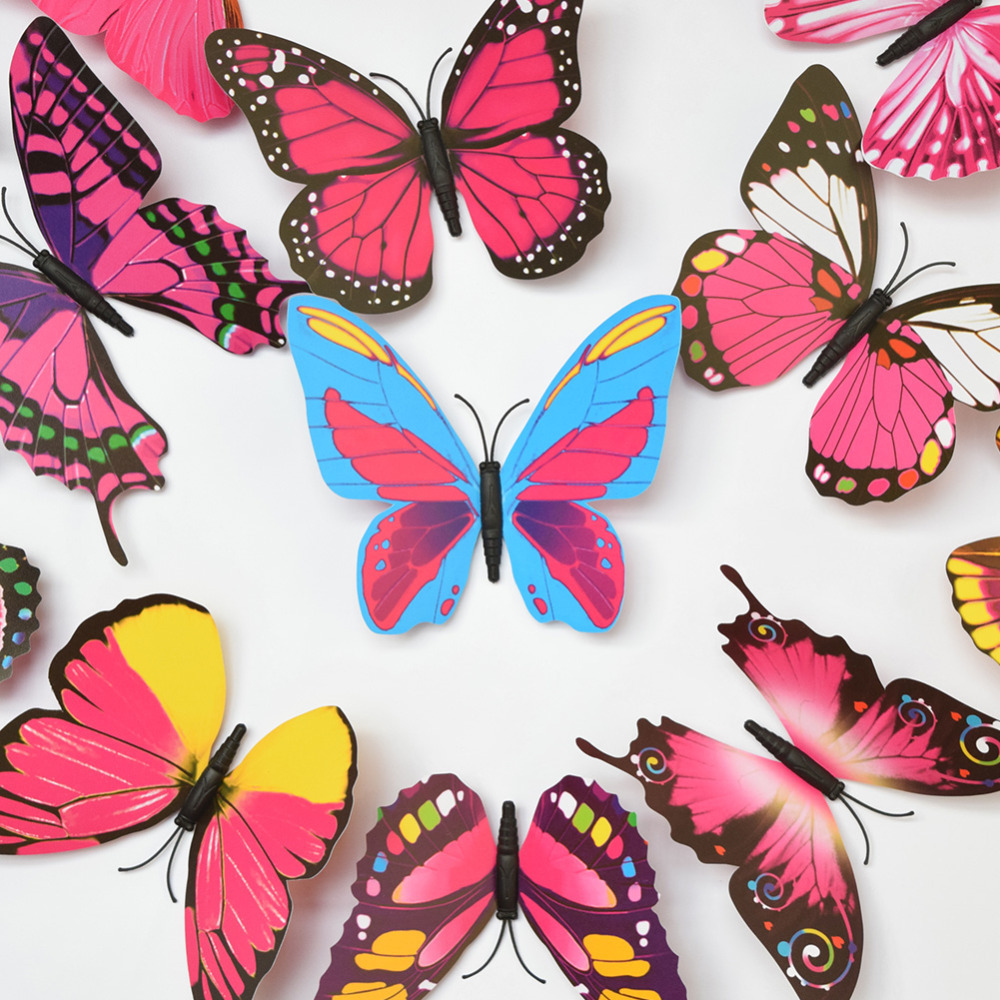 Big Size D Butterfly Wall Sticker Home Decal Refrigerator Decors - Butterfly wall decals 3daliexpresscombuy d butterfly wall decor wall sticker