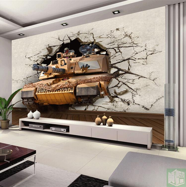 Free Shipping Military theme wallpaper 3D stereo KTV box large mural background living room bedroom wallpaper mural