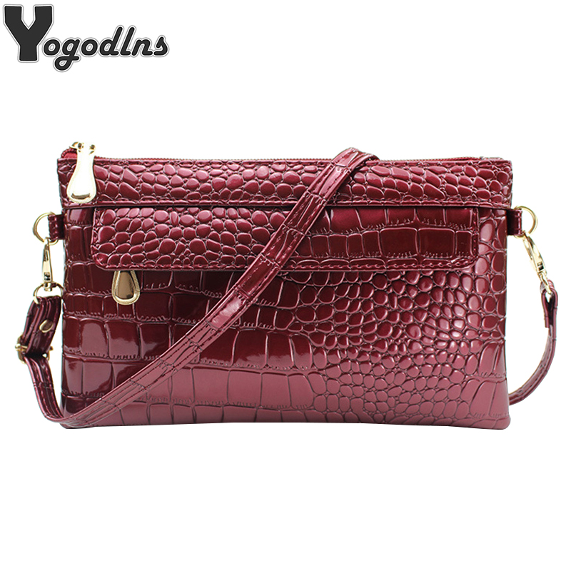 2019 Alligator Designer Handbags For Women PU Leather Shoulder Messenger Bags Solid Color Female Crossbody Envelope Bag Bolsas