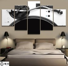 5 Panel Music DJ Console Instrument Mixer Canvas Printed Painting For Living Room Wall Art Home Decor HD Picture Artworks Poster