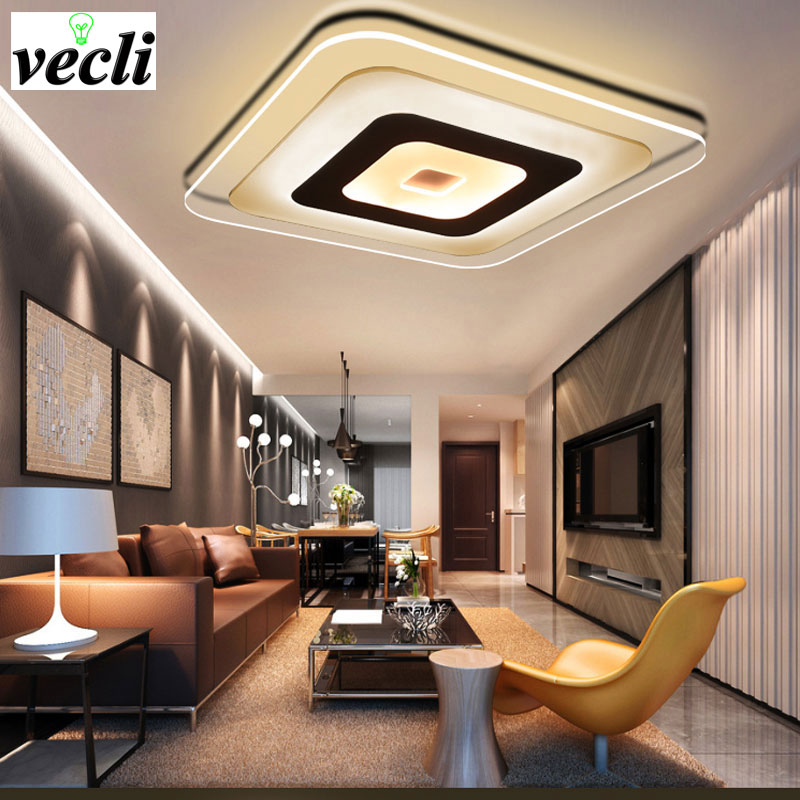 New Acrylic Modern led ceiling lights for living room bedroom home Lighting decorate ceiling lamp AC85-265V bar new modern led ceiling lights for living room bedroom plafon home lighting combination white and black home deco ceiling lamp